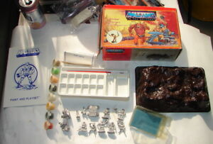 MOTU He-Man Pinnacle Products Paint and play playset Battle Ram attack 80s A21