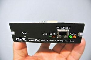 APC AP9617 10/100 SmartSlot UPS BATTERY BACKUP NETWORK MANAGEMENT CARD