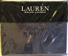 Ralph Lauren 4 Pc Cotton Dunham Sateen Sheet Set Solid Cadet Blue Navy Queen New