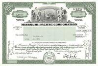 Missouri Pacific Corporation Common Stock Certificate Railroad 1980's type 2