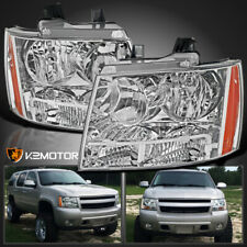 For 2007-2014 Chevy Avalanche Tahoe Suburban Crystal Headlights Left+Right 07-14