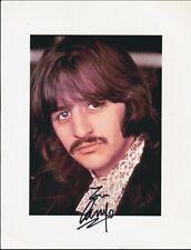 Beatles ABSOLUTELY BEAUTIFUL RINGO STARR SIGNED ' WHITE ALBUM ' GLOSSY PHOTO!
