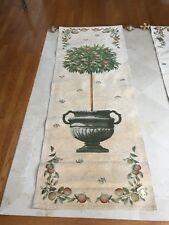Tapestries, Ltd. Tall Fruit Tree in Decorative Urn W/ Elaborate Painted Finials