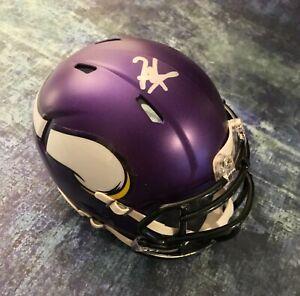 GFA Minnesota Vikings RC Quarterback KELLEN MOND Signed Mini Helmet K4 COA
