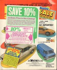 J.C. Whitney & company Auto Parts & Accessories Book Catalog 456 C 042018DBE