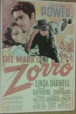 ZORRO the classic Tyrone Power, Linda Darnell film poster good condition