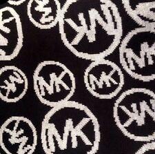 MICHAEL KORS Signature MK Black White Circle Logo Scarf $58