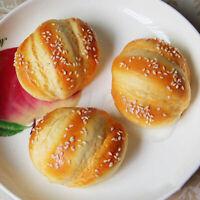 Artificial Simulation Fake Food Plastic Kitchen PU Hanamaki Sesame Bread Decor