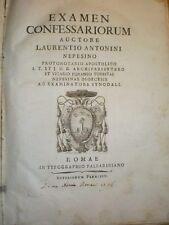 ANTONINI - EXAMEN CONFESSARIORUM - UNICA EDIZIONE