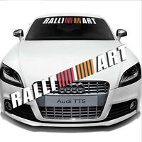 Ralliart Letter Windshield Banner Decal Racing Car Window Reflective Sticker
