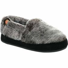 Acorn Slippers--  Chinchilla Faux Fur