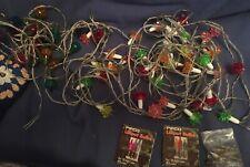Vintage Pifco Christmas Xmas Tree Lights x 2 & Pifco Lilliput Replacement Bulbs