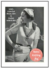 1930's Cruise Sailor Suit Knitting and Crochet Pattern - Copy