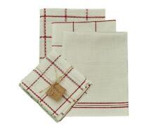 Park Designs 4-Piece Five Farm Red Dish Towel Set 100% Cotton