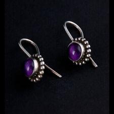 GEORG JENSEN Sterling Earrings # 9 w. Amethyst. Design: GJ himself. 3539238