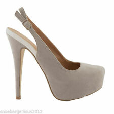 Faux Suede Evening & Party Patternless Slingbacks for Women