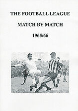 The Football League Match by Match 1965/66 Season Complete Statistics book