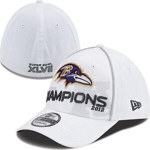 Baltimore Ravens Super Bowl XLVII AFC Champions Locker Room New Era Hat Cap 47