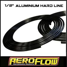 "AEROFLOW ALUMINIUM HARD LINE 1/2"" X 25 FOOT ROLL FUEL OIL WATER E85 AF66-3001BLK"