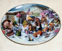 BOXED Franklin Mint Limited Edition CAT PLATE Bryan Moon COOL CATS