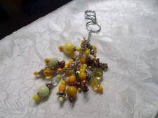 Yellow Chunky Bead Purse Dangle Suncatcher Sun Key Chain Keychain Handcrafted