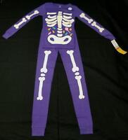 NWT Carter's Girls Purple 2 Piece Halloween Pajama PJ Long Sleeve Glow in Dark 8