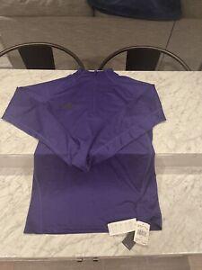 Adidas Men Shirt Quarter Zip GameMode NEW NWT LT large tall Purple $60.