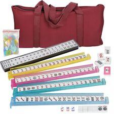 American Mahjong Game Western Mahjongg Set 166 Tiles 4 PUSHERS & Free Soft Bag