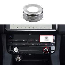 For Jaguar XE 2016-2019 Silver Aluminum Central Console AC Switch Button Trim
