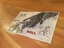 Tanner Hall Freeskier Autographed Poster