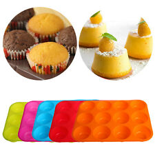 Silicone Nonstick 12 Cups Muffin Pan Cupcake Tray Cake Baking Mold Hot