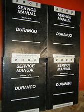 2005 DODGE DURANGO 4 VOLUME ORIGINAL FACTORY SERVICE MANUAL SET