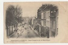 Fontenay Le Comte Rues Turgot et de la Republique France 1905 Postcard 273a