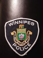obsolete Winnipeg Police (Canada) Shoulder Patch from 1990