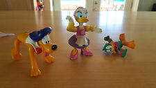 Lot of 3 Disney Action Figures - Daisy Duck, Pluto, Daffy Duck