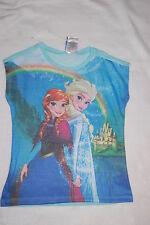Girls Sweater Tee DISNEY FROZEN Rainbow ANNA ELSA ARENDELLE Lt Weight S 6-6X