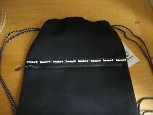 Timberland Black Drawstring Bag Backpack School Gym BNWT FREEPOST