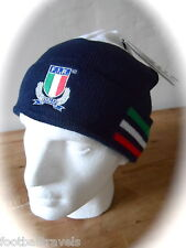 ADIDAS ITALY RUGBY WOOLIE BEANIE HAT Tags OSFA Unisex NAVY Toque ITALIA