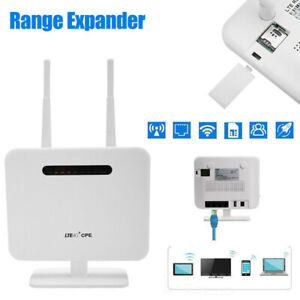 Wireless 4G wifi router Unlocked 300Mbps portable Modem With SIM slot LAN Cable