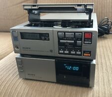 Sony Sl-2000 Betamax Player Recorder & Sony Tuner Timer Tt-2000 As Is Untested