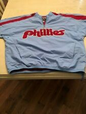 Philadelphia Phillies Majestic Cooperstown Collection Columb Blue Jacket Size L