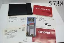 Isuzu Trooper Car Manual Owners Book and Folder With Other Paper Work
