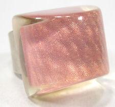 SoHo Ring Praline Schunkelring hologramm retro resin Kunstharz großer Fingerring