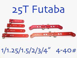 "1PC 1/1.25/1.5/2/3/4"" 25T Aluminum Servo Arm Horn for Futaba Savox 4-40# Thread"
