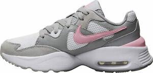Nike Air Max Fusion Mesh GS Junior Girls Running Fashion Trainers White Pink Gry