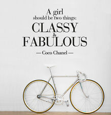 Wall Decal Vinyl Fashion Coco Chanel A girl Classy and Fabulous r1386