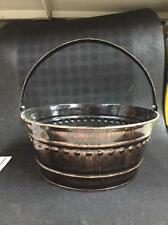 "New Dover M705Ac Brown Metal Tub Can Pail Bucket With Handle 11"" X 5"""