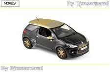 Citroën DS3 Racing de 2013 Black Matt & Gold NOREV - NO 155288 - Echelle 1/43