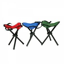 Folding stool  Outdoor Camping Fishing Picnic game Portable Chair 3 Legs Random
