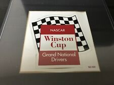 Original vintage Nascar decal Sticker Winston Cup Grand National Drivers